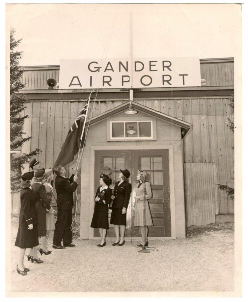 Gander lufthavnen, som SAS bl.a. mellemlandede i på vej til USA.