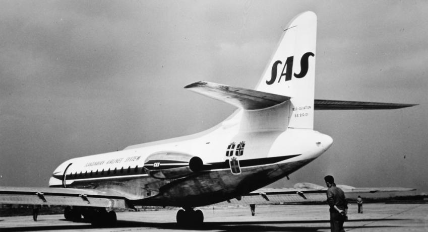 I 1960'erne fik SAS leveret bl.a. denne Caravelle og gik dermed ind i jetalderen.
