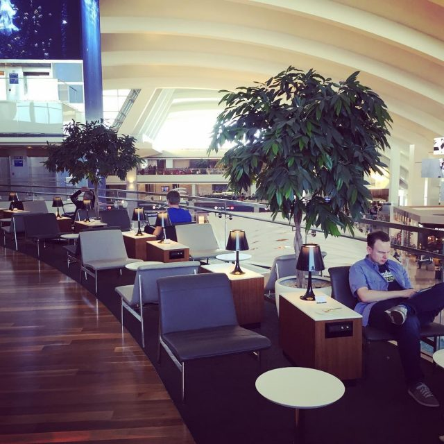 Star Alliance Lounge in LAX This is a really greathellip