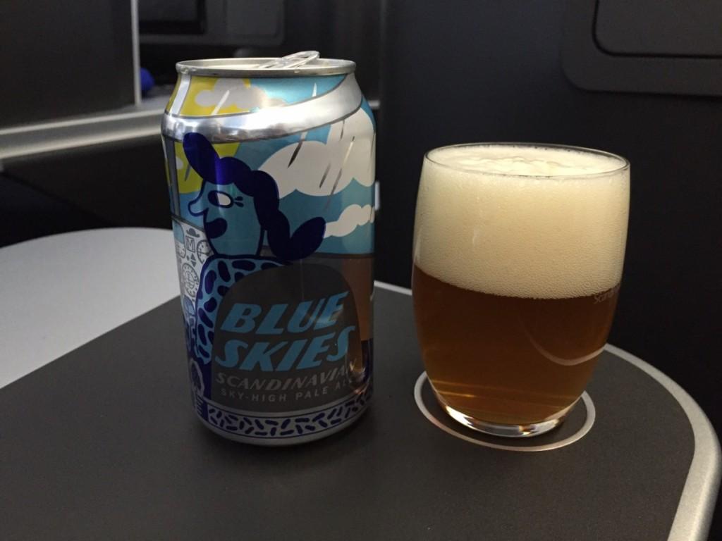 SAS SkyHigh Pale Ale – produceres sammen med Mikkeler og kan kun købes ombord på SAS. Denne øl finder du både på korte og lange ruter.