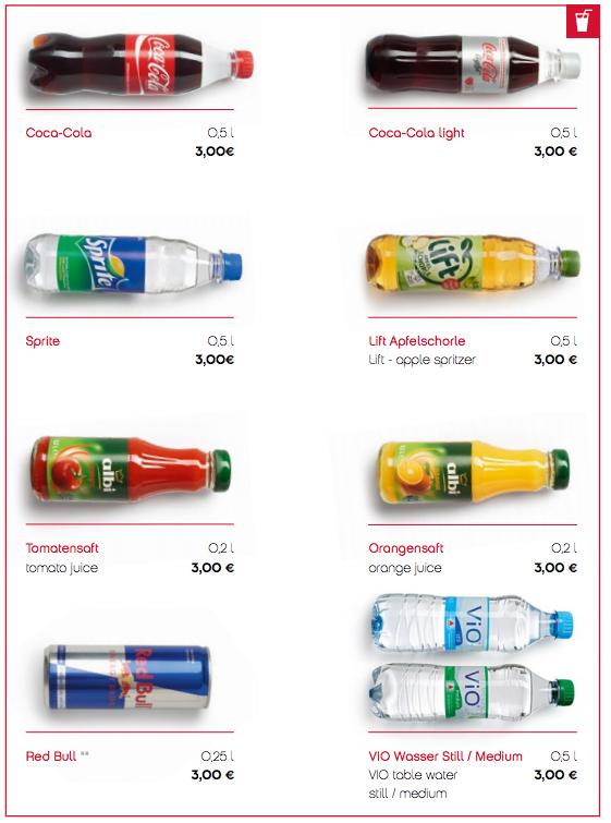 Fremover koster det 3 euro for en cola ombord på AirBerlin.