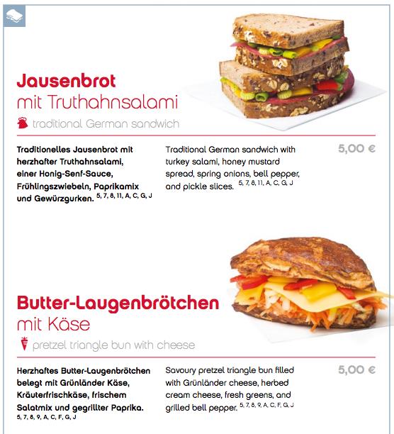 Snack og sandwich skal du betale for ombord hos AirBerlin.