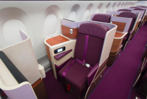 Royal Silk Class ombord på Thai Airways A350. Foto: Thai Airways, Instagram