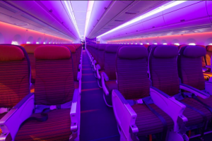 Økonomiklasse på Thai Airways A350. Foto: Thai Airways, Instagram