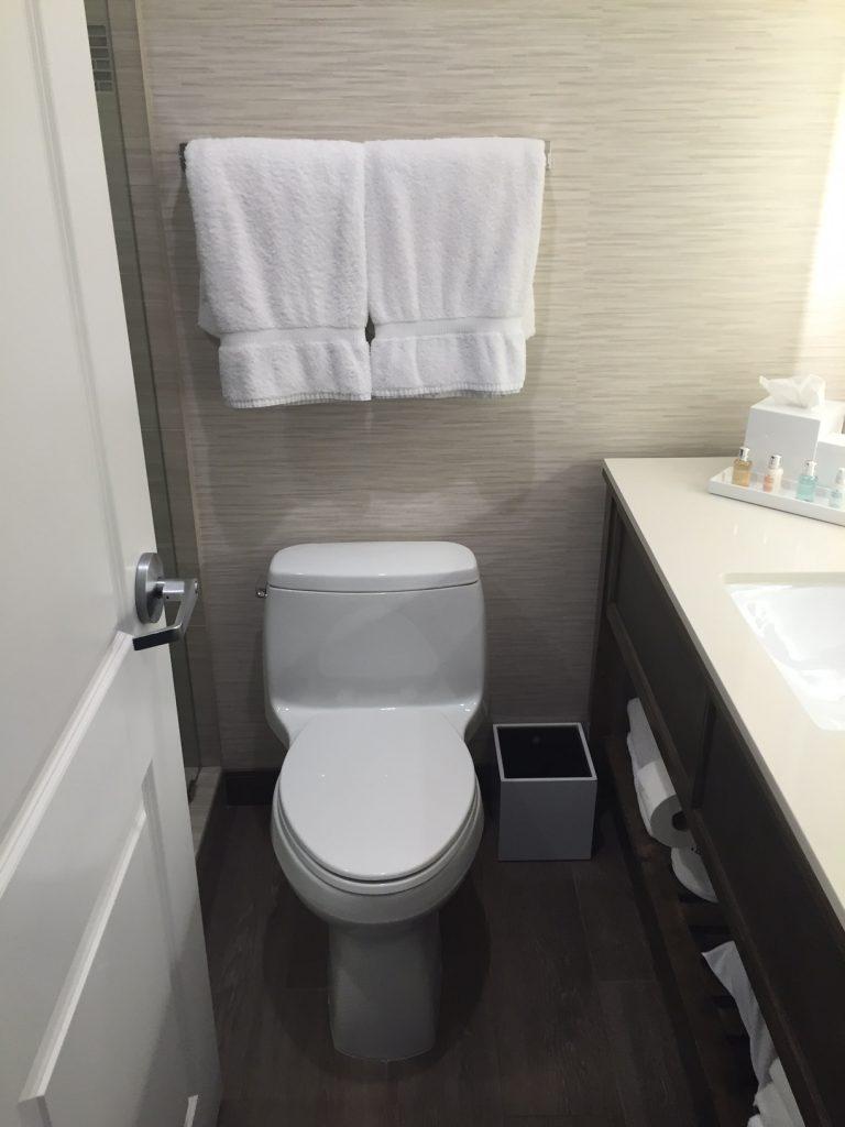 Badeværelset var meget småt. Foto: Flemming Poulsen