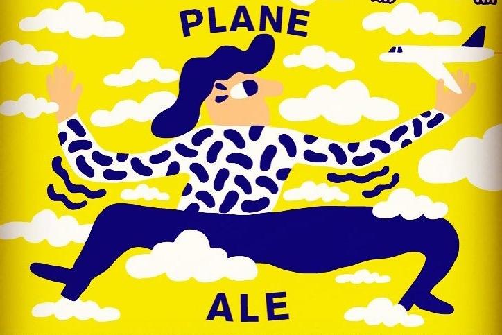 """Ny øl ombord hos SAS snart. Udviklet sammen med Mikkeller. Den nye Ale hedder """"Plane Ale"""". Foto: SAS/Mikkeller"""