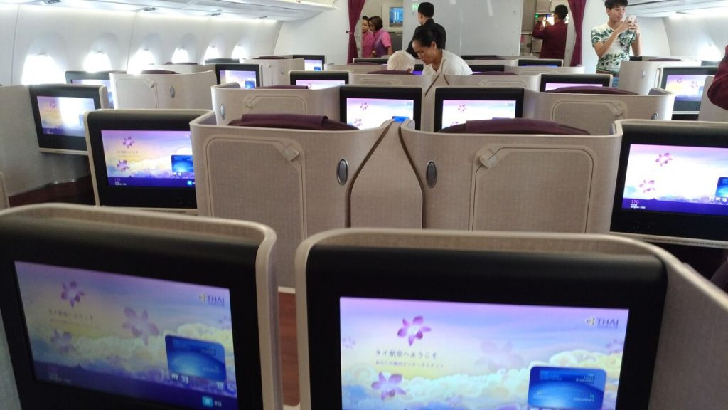 Business Class kabinen på Thai Airways A350. Foto: Jens Fisker