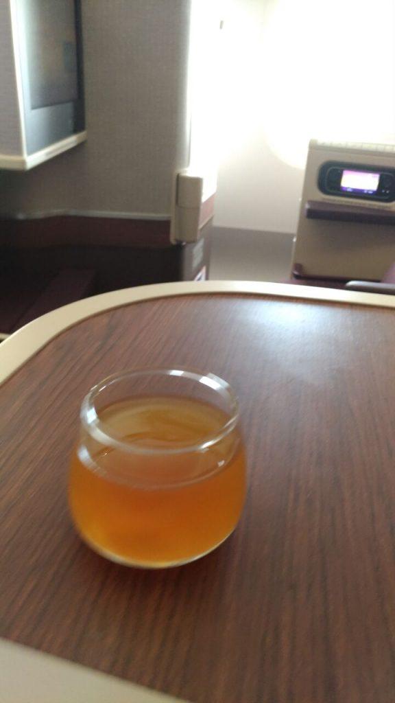 Pre-departure-drink på denne flyvning til Chiang Mai. Foto: Jens Fisker