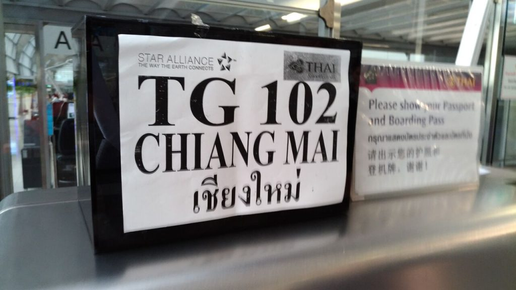 Thai Airways A350 første afgang med passagerer fik fra Bangkok til Chiang Mai i dag. Foto: Jens Fisker