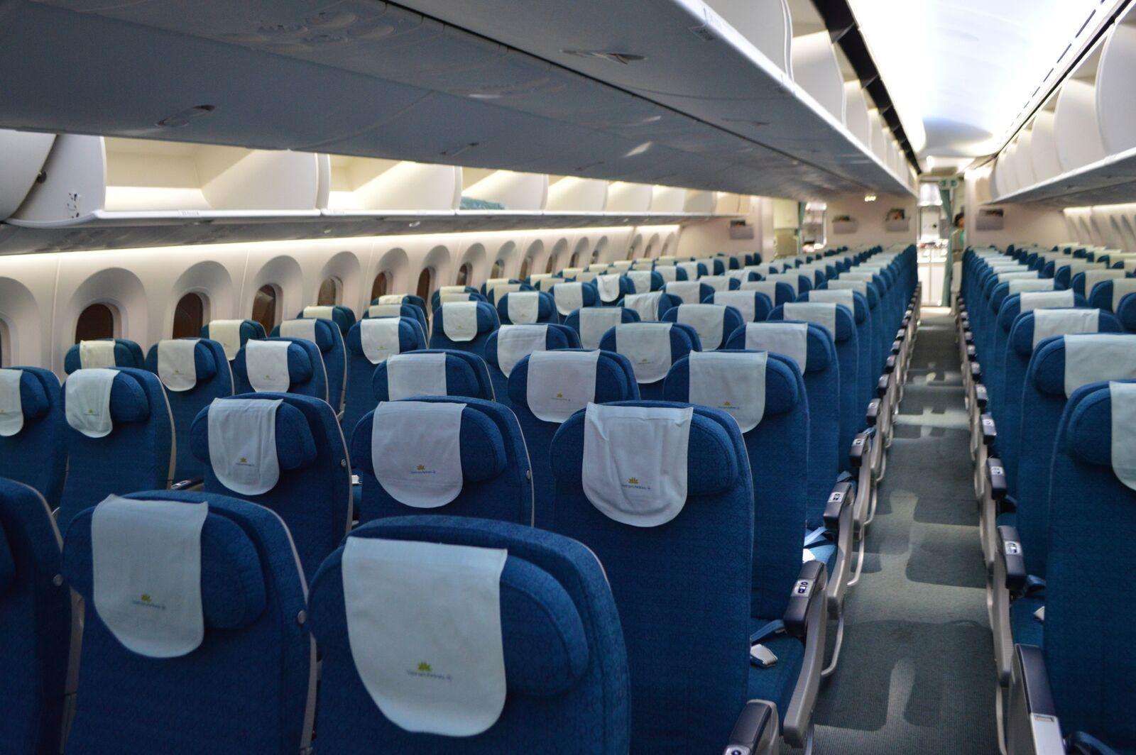 Economy Class på Vietnam Airlines Boeing 787. Foto: Jens Fisker