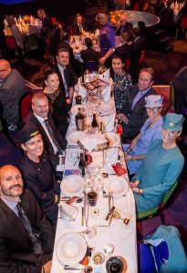 SAS repræsentanter fejrer de fire priser til Danish Travel Awards.