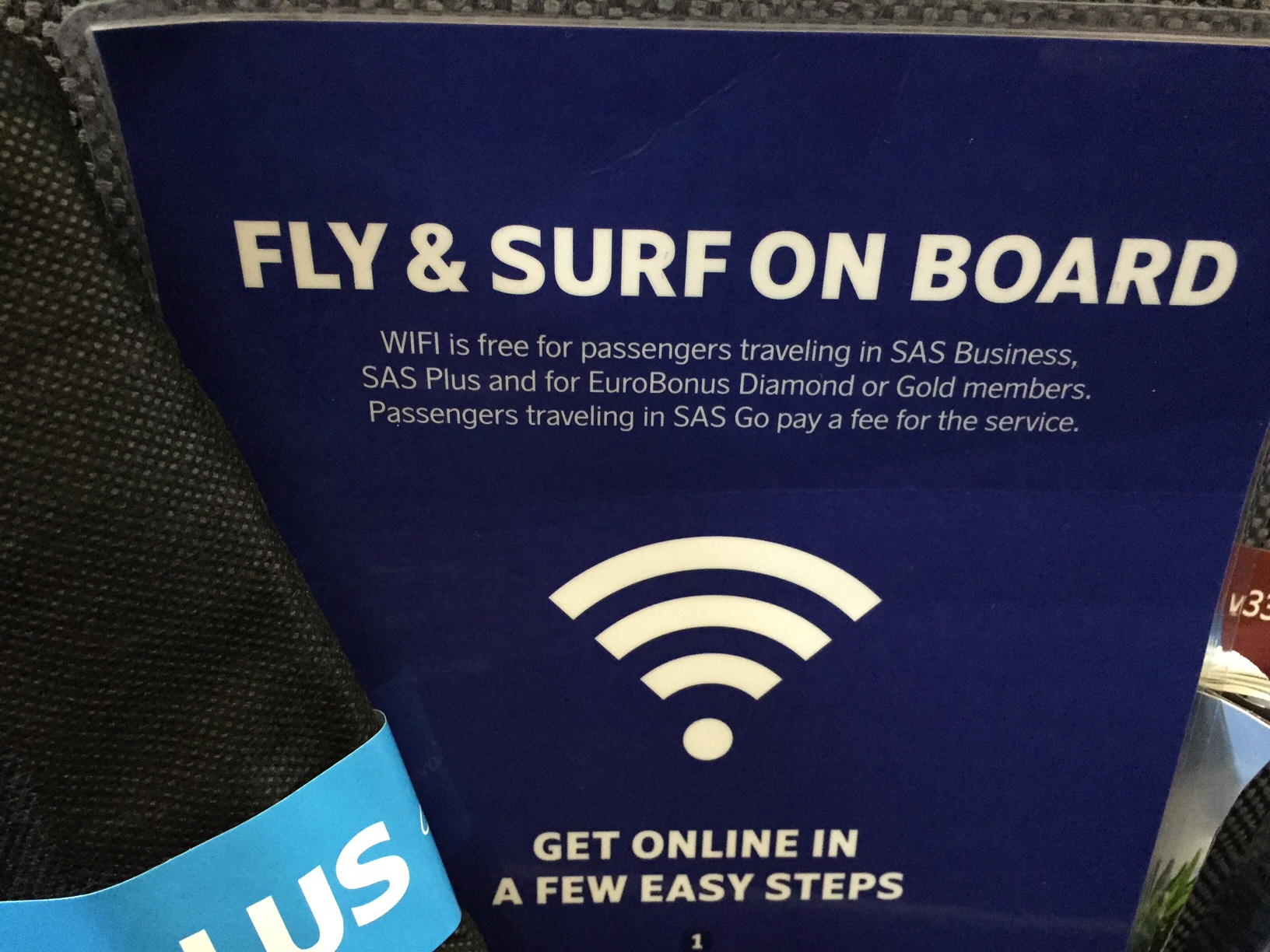Ustabilt WiFi ombord, men gratis for SAS Plus, SAS Business og statusmedlemmer i EuroBonus.