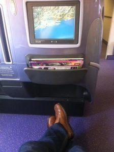 God plads på Thai Airways Business Class. Booket takket være bonuspoint.