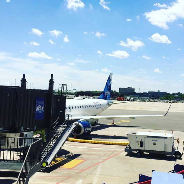 JetBlue just arrived into Newark