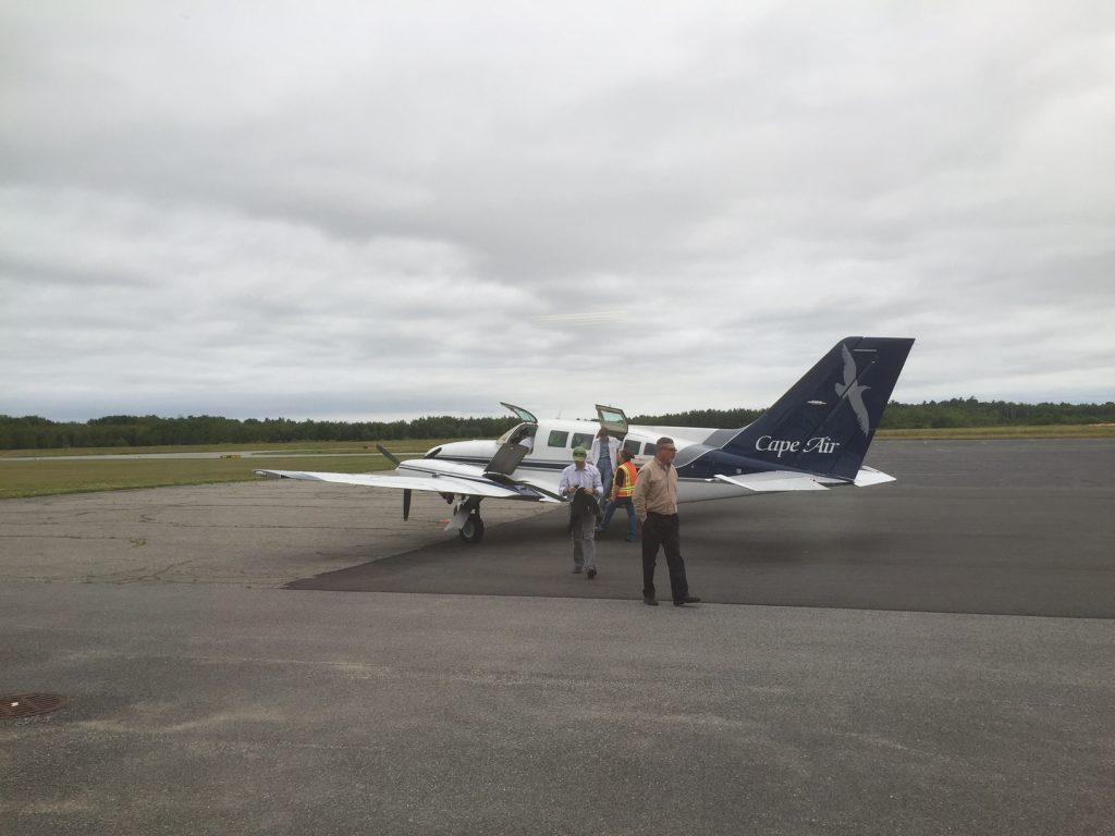 CapeAir flyver fra Boston til Rockland med små Cesna-fly. Turen tager under 1 time. Foto: Flemming Poulsen