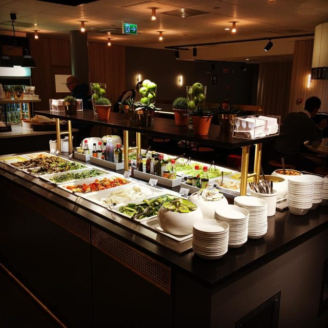 Great food selection in the SAS Oslo lounge Probably thehellip