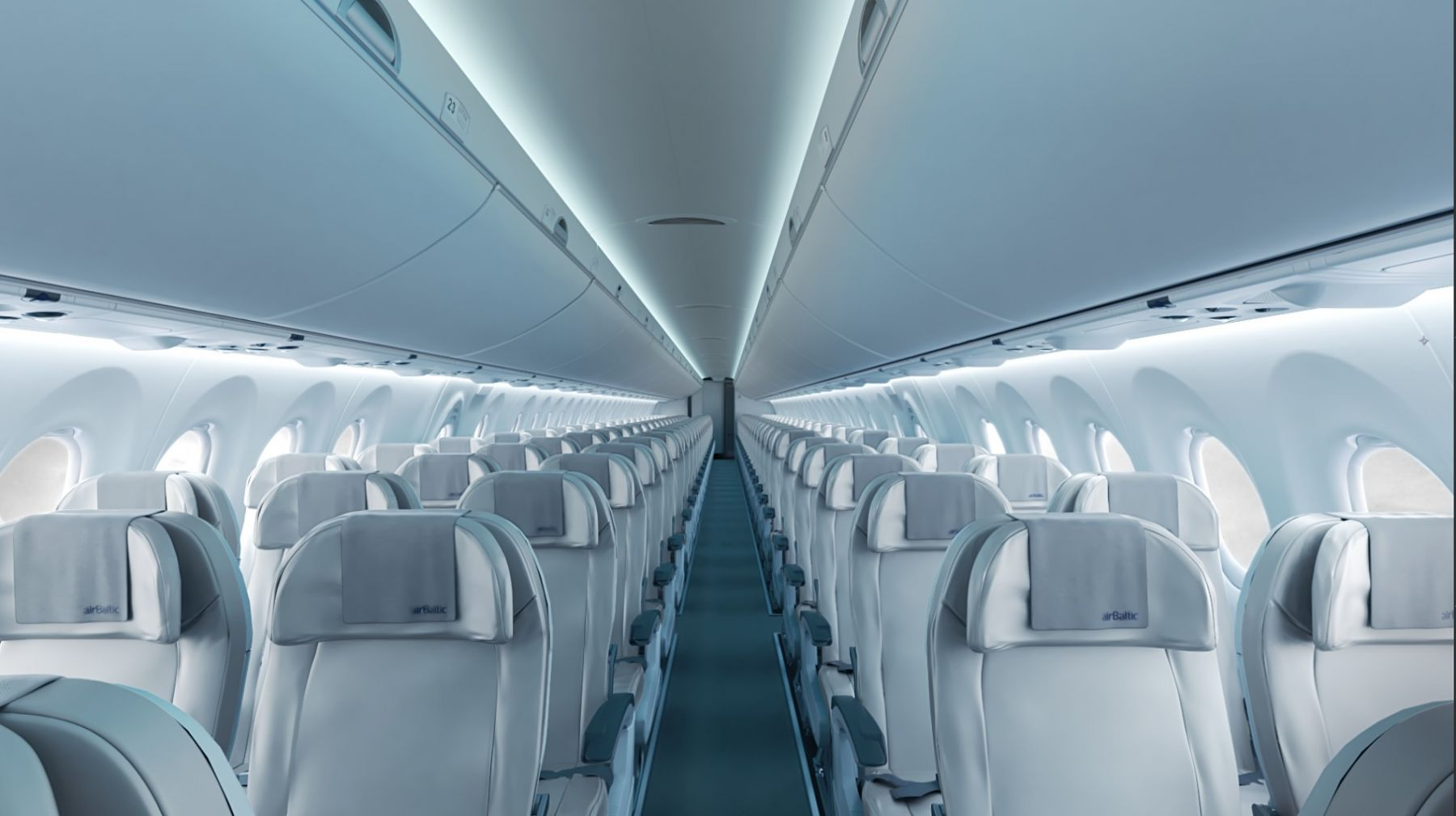 Kabinen i AirBaltics CS300