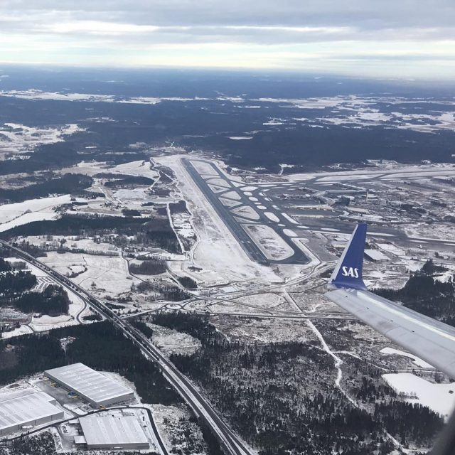 Beautiful view of Stockholm Arlanda this morning when departing onhellip