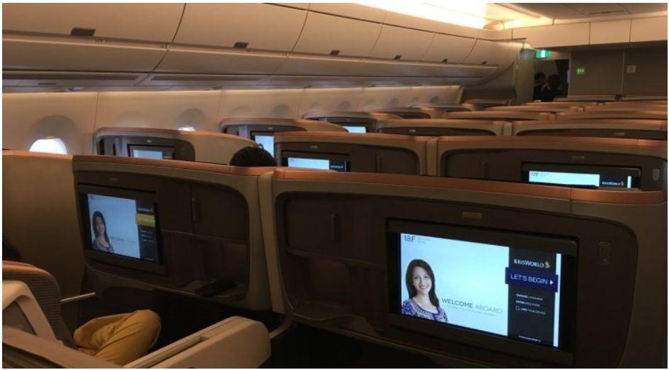 SQ A350 biz kabin