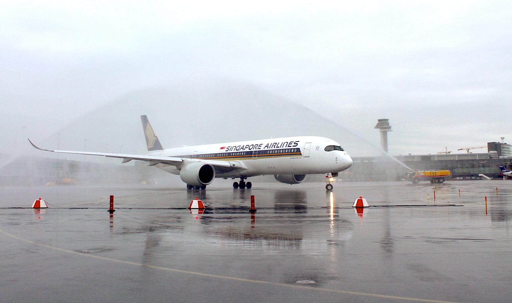 Photo of Arlanda välkomnar Singapore Airlines och Airbus A350 till Stockholm