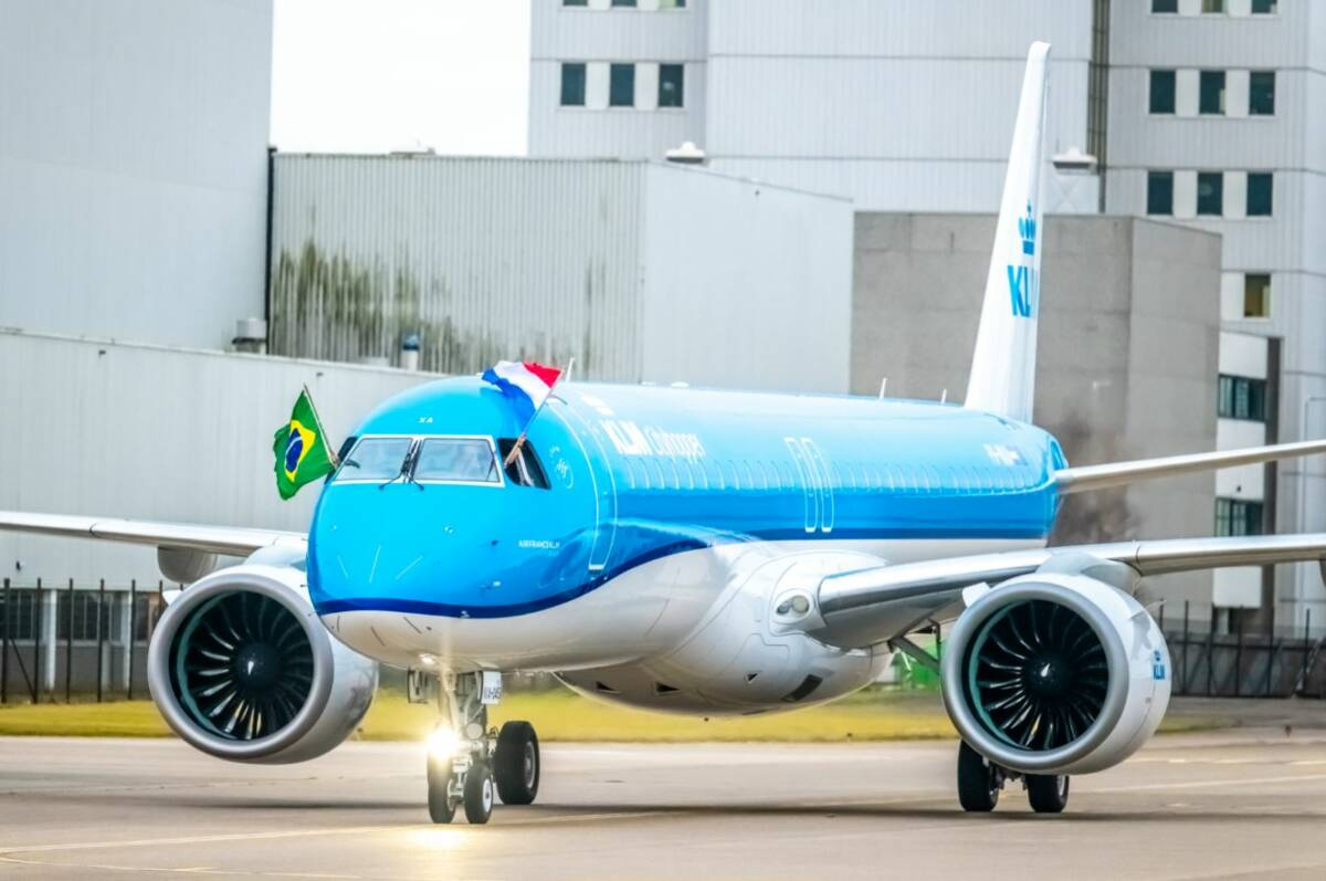 Photo of KLM Cityhoppers första Embraer E195-E2 har landat på Schiphol