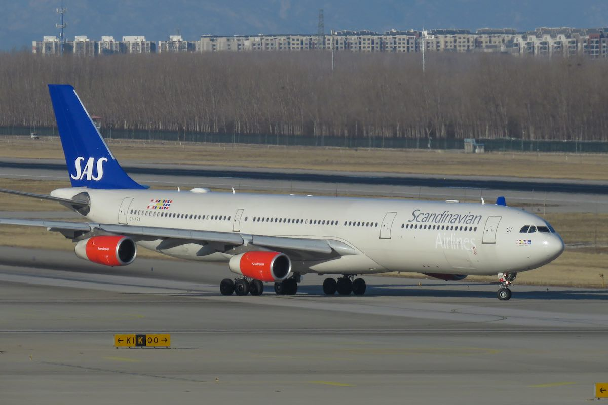Photo of Endast en Airbus A340 kvar i SAS flottan